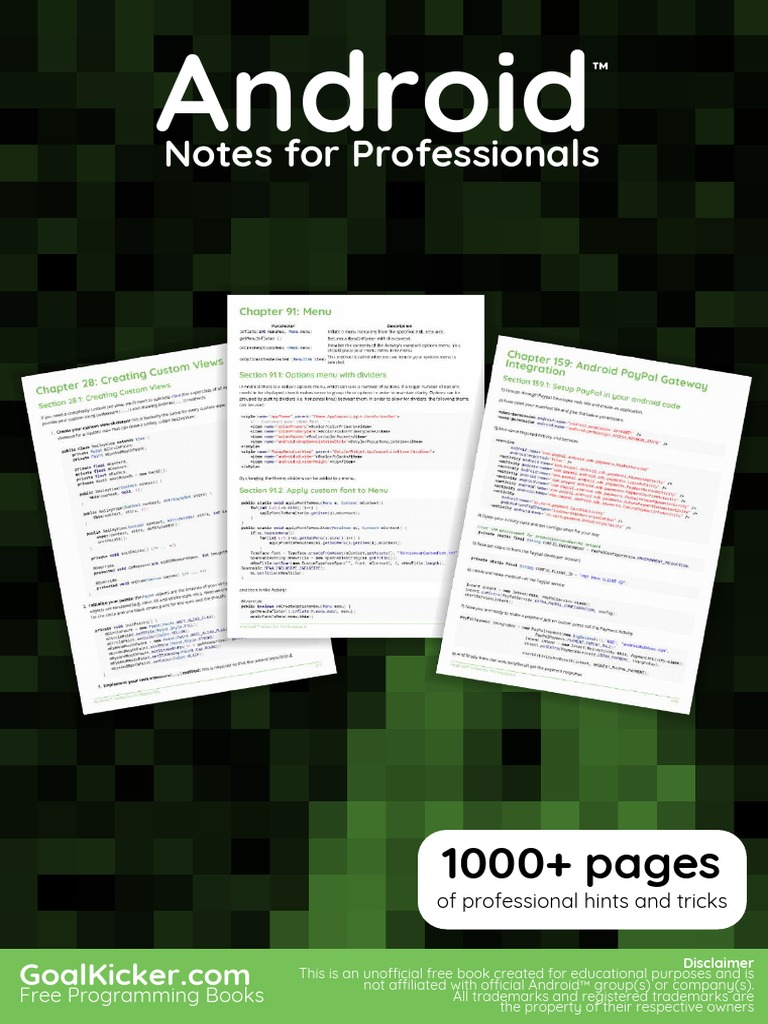 Android Notes for Professionals | Android (Operating System