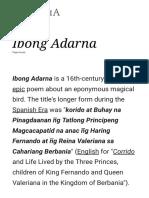 Ibong Adarna - Wikipedia