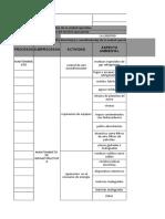 Matriz de ASP e Impac Ambientales Legilacion