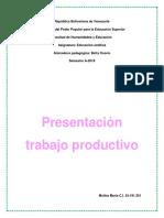 Presentación Trabajo Productivo