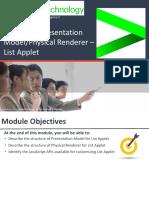 Module 9 List Applet PM PR