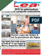 Periódico Lea Jueves 26 de Julio Del 2018