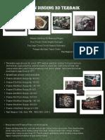 Hiasan Dinding 3D Untuk Kelas SD  WA