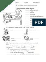 articulos adjetivos sustantivos