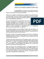 Constancia Caficultura Colombiana Hs Carlos Felipe Meja