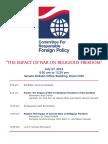 CRFP - July 27 Program