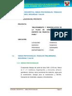 01-MEMORIA DESCRIPTIVA - OBRAS PROVICIONALES - PLAZA TIRAPATA.docx