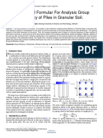 A Simplified Formular for Analysis Group Efficiency of Piles in Granular Soil