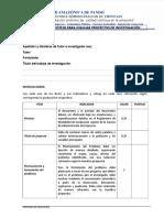 Lista de Cotejo Para Evaluación de Investigaciones