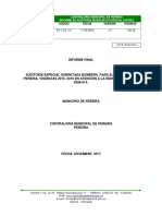 Informe Final Sobretasa Bomberil - Vigencia 2016