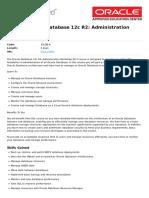Oracle Database 12c r2 Administration Workshop Ed 3