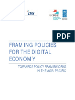 Framing Policies for the Digital Economy - Towards Policy Frameworks in the Asia-Pacific
