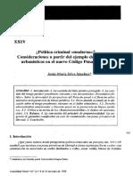 Jesus Maria Silva Sanchez Politica Criminal Moderna