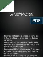 Diapositivas de La Motivación