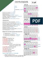 Academic Calendar Spring 2018 REVISED 18 April