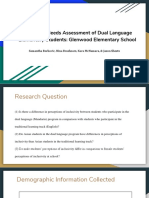 inclusivity needs assessment of dual language elementary students needs assessment