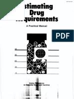 Estimation Drug Requirements