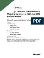 SQL2012AS Multidimensional Modeling