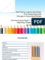 As 5 Net Profit or Loss for the Period Prior Period Items and Changes in Accounting Policies