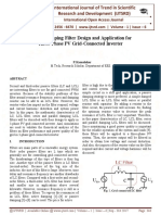 Passive Damping Filter Design and Application for Three-Phase PV Grid-Connected Inverter