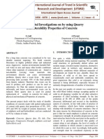 Experimental Investigations on by using Quarry Dust Durability Properties of Concrete
