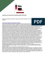 Puerta Garaje Alicante