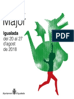 Programa de la Festa Major d'Igualada 2018