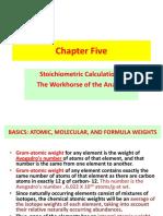 analytical chemistry (stoichiometry)