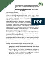 Moción para a eliminación da fachada franquista na Excolexiata de Cangas