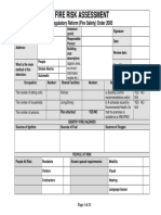 Fire Safety Risk Assessment Form