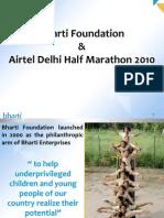 Airtel Delhi Half Marathon (ADHM) 2010 and Bharti Foundation - Helping underprivileged children