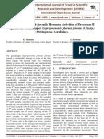 Insecticidal and Anti-juvenile Hormone Activities of Precocene II against the Grasshopper Euprepocnemis plorans plorans (Charp.) (Orthoptera