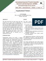 Organisational Violence