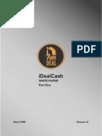 IDealCash White Paper PartOne v1 Final