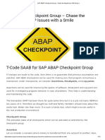 ABAP Checkpoint Group - Chase the Mysterious SAP Dump