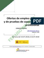 BOLETIN SEMANAL CONVOCATORIA OFERTA EMPLEO PUBLICO DEL 10 AL 16 DE JULIO DE 2018.pdf