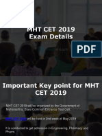 MHT CET 2019 Complete Information