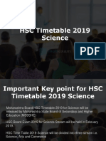 Maharashtra Board HSC Timetable 2019 Science