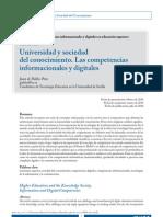 Las Competencias informacionales y Digitales_Juan de Pablos Pons