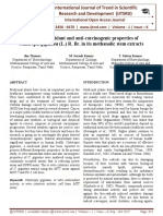 In vitro anti-oxidant and anti-carcinogenic properties of Calotropis gigantea (L.) R. Br. in its methanolic stem extracts
