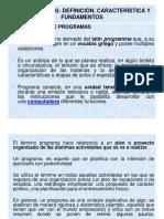1.3 Programas Definición Caracteristicas y Fundamentos