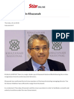 Major Shake-up in Khazanah - Business News _ the Star Online