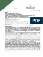 Proyecto de Ordenanza sobre Trato Digno de usuario y consumidores