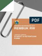 20161220 Pedoman Rembuk RW Tahun 2017 Final Pra Syarat Dan Lampiran Pasca Revisi OPD