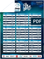 Calendrier Jeep Elite 2018-2019