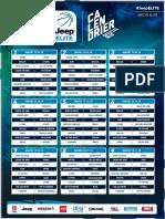 Calendrier Jeep Elite 2018-2019