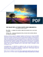 NO SALIR DE LA CASA HASTA QUE AMANEZCA, J. Mª Armesto Caldeiro