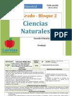 Plan 3er Grado - Bloque 2 Ciencias Naturales
