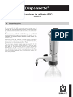 Calibracion de Dispensador Brand