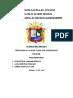 Universidad Nacional Del Altiplano Leche en Polvo